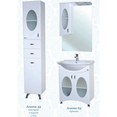 Комплект мебели для ванной Агата-65, белый, Bellezza