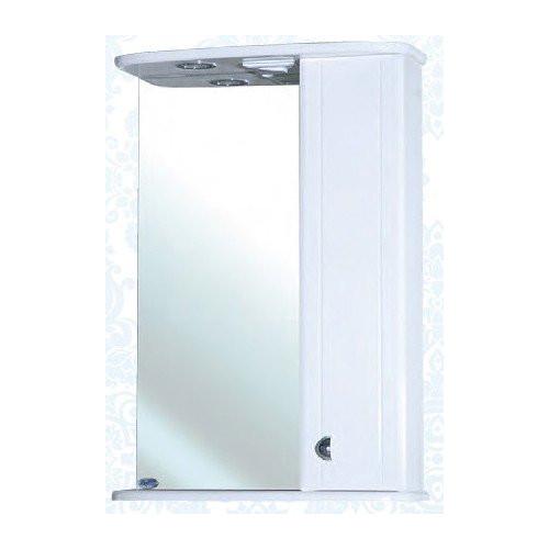 Астра-55 зеркало шкаф, 55 см, белый, левое, правое, Bellezza