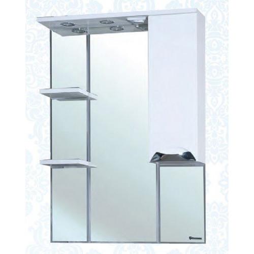 Симона-75 зеркало шкаф, 74 см, белое, левое, правое, Bellezza