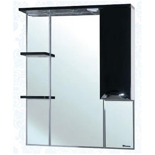 Белла-85 Люкс зеркало шкаф, 83 см, красный, черный, бежевый, салатовый, голубой, левое, правое, Bellezza