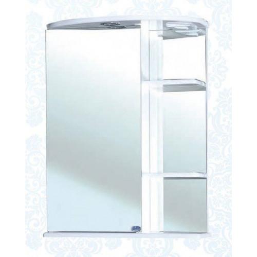 Нарцисс-55 зеркало шкаф, 55 см, белое, левое, правое, Bellezza