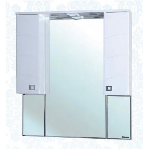 Джулия-105 зеркало шкаф, 101 см, белое, Bellezza