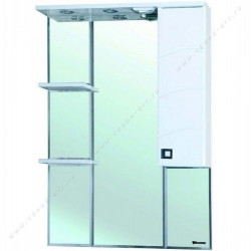 Джулия-75 зеркало шкаф, 74 см,левая, правая, белое, Bellezza