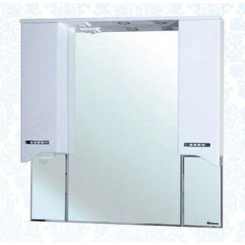 Дрея-105 зеркало шкаф, 101 см, белое, левое, правое, Bellezza