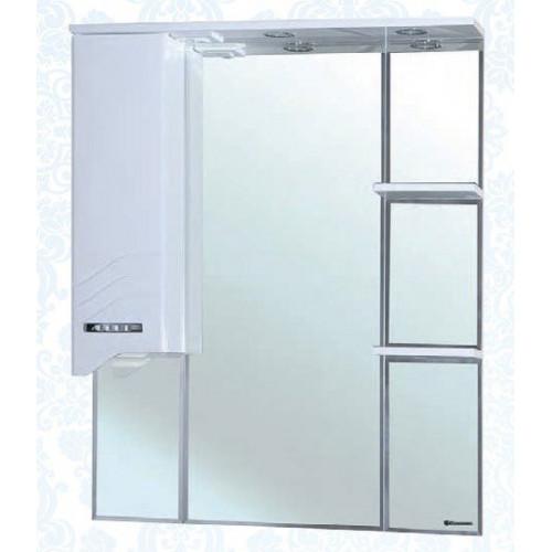 Дрея-85 зеркало шкаф, 83 см, белое, левое, правое, Bellezza