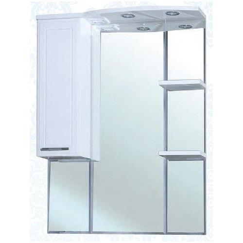 Коралл-85 зеркало шкаф, 78 см, белое, левое, правое, Bellezza
