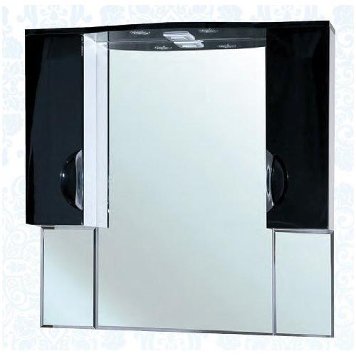 Лагуна-105 зеркало шкаф, 101 см, черное, салатовое, бежевое, красное, голубое, левое, правое, Bellezza