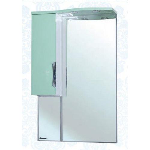 Лагуна-65 зеркало шкаф, 65 см, черное, салатовое, бежевое, красное, голубое, левое, правое, Bellezza