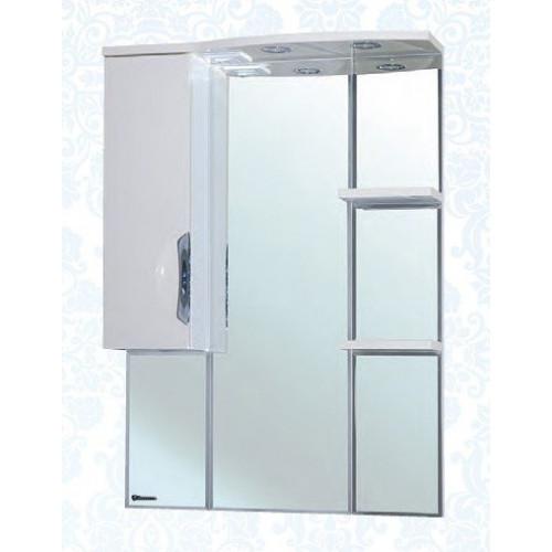 Лагуна-75 зеркало шкаф, 72.5 см, белое, левое, правое, Bellezza