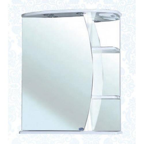 Луна-60 зеркало шкаф, 60 см, белое, левое, правое, Bellezza