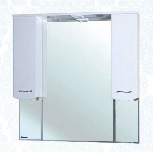 Мари-105 зеркало шкаф, 101 см, комбинированое, черное, салатовое, бежевое, красное, голубое, Bellezza