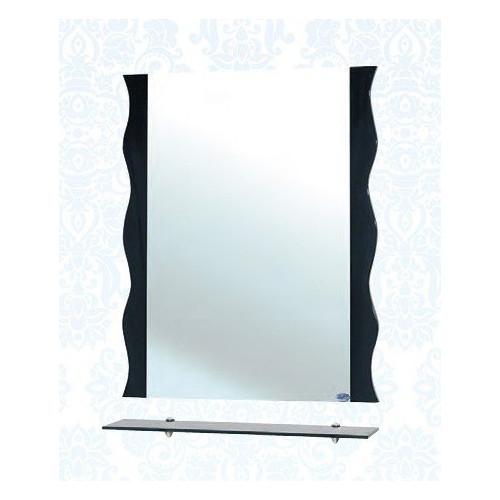 Мари-80 Волна, зеркало с полкой, 78 см, черное, бежевое, красное, Bellezza