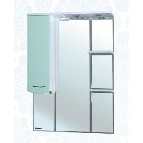 Мари-85 зеркало шкаф, 83 см, комбинированое, черное, салатовое, бежевое, красное, голубое, левое, правое, Bellezza