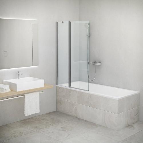 Шторка для ванны Roth TV2 970мм с двухсторонним проемом и неподвижной частью