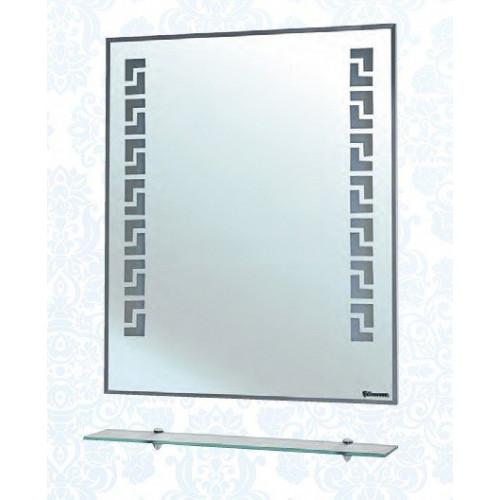 Мира-70 зеркало с полкой, 68 см, белое, внутренняя подсветка, Bellezza