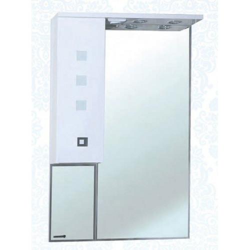 Натали-70 зеркало шкаф, 68 см, комбинированое, черное, красное, левое, правое, Bellezza