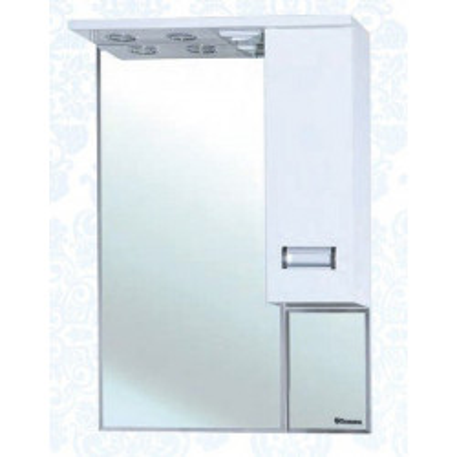 Сиена-60 зеркало шкаф, 58 см, белое, левое, правое, Bellezza