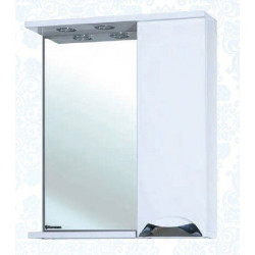Симона-60 зеркало шкаф, 60 см, белое, левое, правое, Bellezza