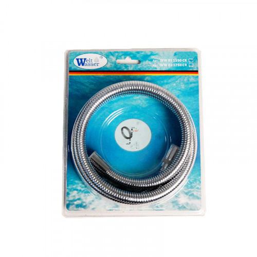 Шланг для душа хром 155см, Welt Wasser, WW BS Арт. 1550 CR