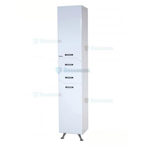 Дрея-35 шкаф пенал, 35 см, с бельевой корзиной, белый, левый, правый, Bellezza