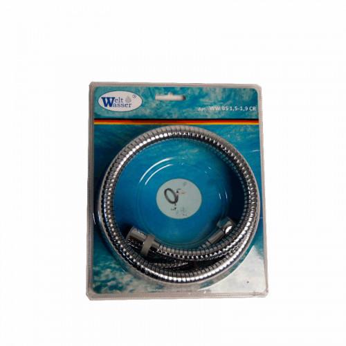 Шланг для душа хром 150-190 см, Welt Wasser, WW BS Арт. 1,5-1,9 CR