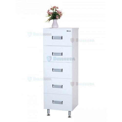 Сиена-40 комод с 5 ящиками, 40 см, белый, Bellezza