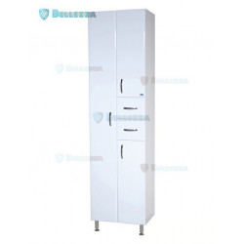 Пенал-60 шкаф пенал, 60 см, белый, Bellezza