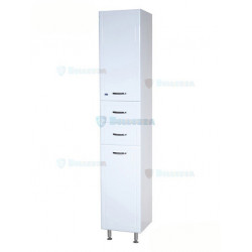 Уют-26 шкаф пенал, 26 см, белый, левый, правый, Bellezza