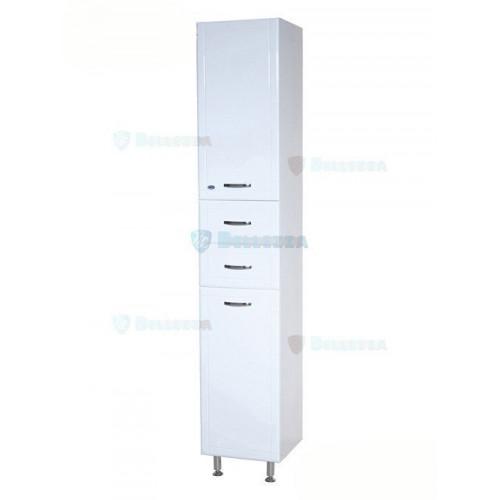 Уют-30 шкаф пенал, 30 см, белый, левый, правый, Bellezza