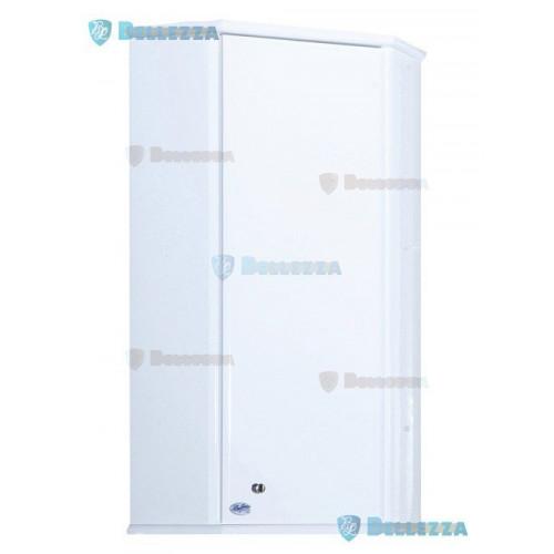 Лилия-34*34 шкаф угловой подвесной, с зеркалом, 34 см, белый, левый, правый, Bellezza