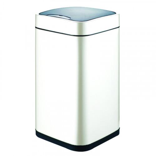 Сенсорное мусорное ведро белое, Welt Wasser, WW RONE WT 12L