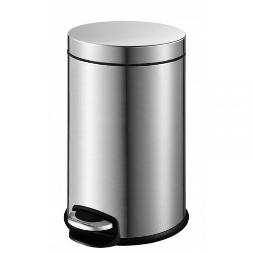 Педальное мусорное ведро матовая сталь, Welt Wasser, WW ERFIE МТ 3L