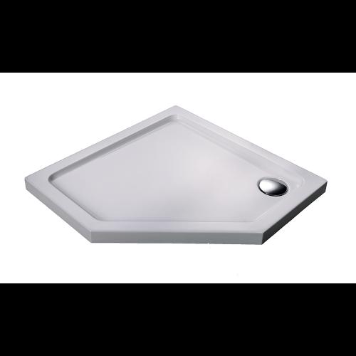 Душевой поддон 100х100х5.5 см, Black & White, P-10