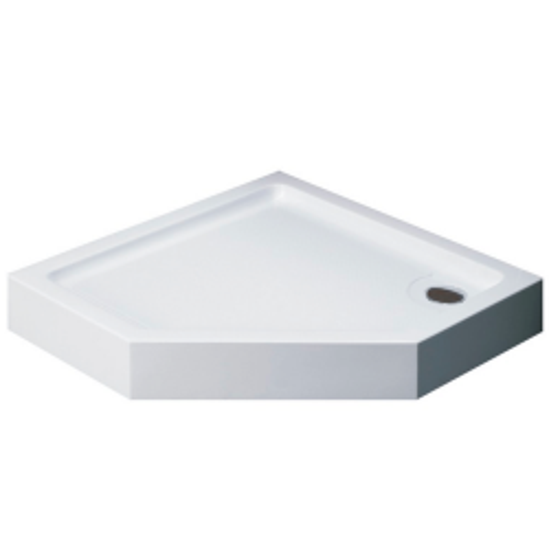 Душевой поддон 100х100х13.5 см, Black & White, P-10H