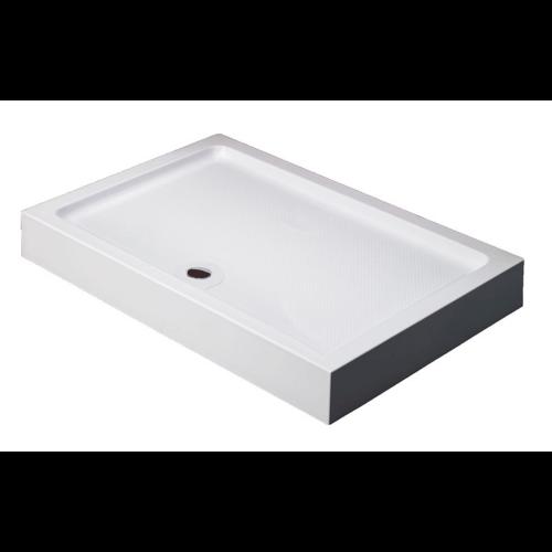 Душевой поддон 100х80х13.5 см, Black & White, RS-0810H