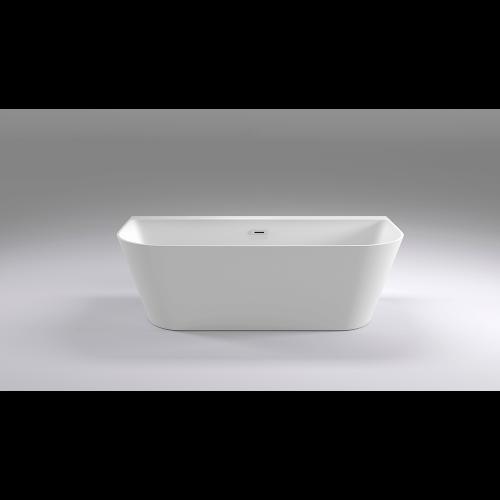 Ванна акриловая пристенная 170x80х58 см, Black & White, SB115