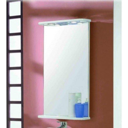 Зеркало 47см, Мира 45, белое, Акватон