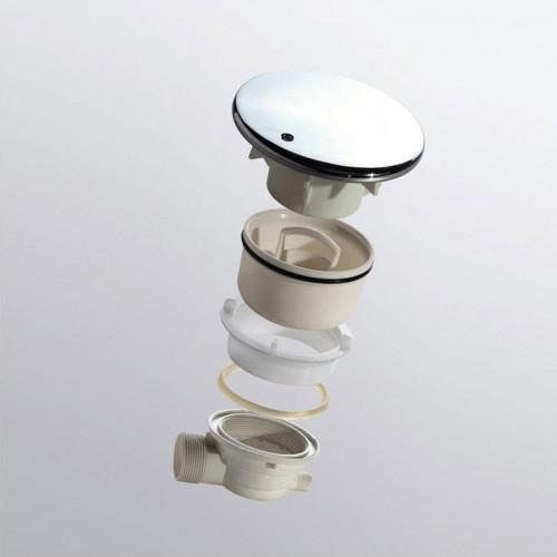 Сифон для душевого поддона хром, RGW, Velplex QYD-01