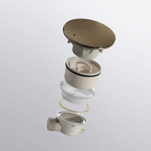 Сифон для душевого поддона бронза, RGW, Velplex QYD-01