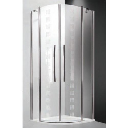 Душевое ограждение Tower Line TR2/90 Design, полукруглое 90см, профиль хром, Roltechnik