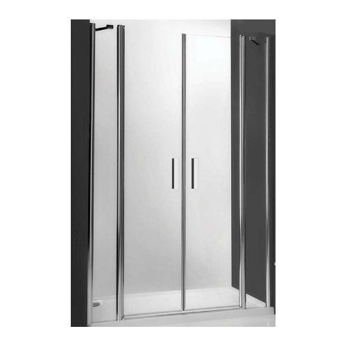 Душевая дверь в нишу или комбинации Tower Line TDN2/1400, 140см, профиль мат. хром, Roltechnik