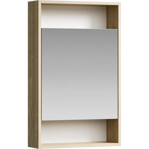Зеркальный шкаф 50см Aqwella City дуб балтийский