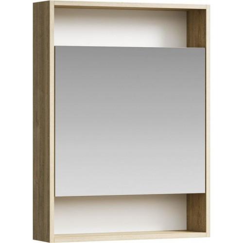 Зеркальный шкаф 60см Aqwella City дуб балтийский
