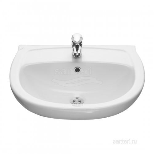 Раковина Santeri Версия 56,5см с переливом белый 131115S0011B0