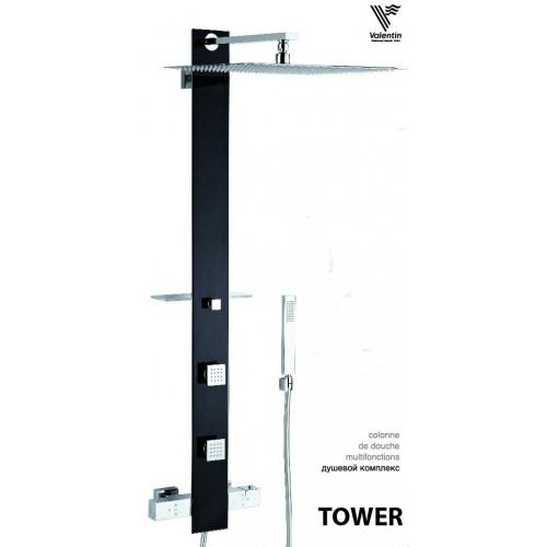 Душевая система Tower Black, Valentin
