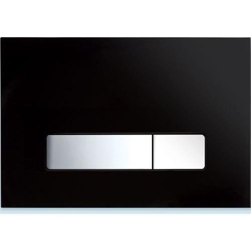 Клавиша смыва Mepa Orbit для A31, B31, стекло, черная