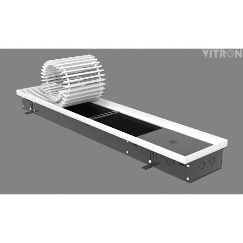 Внутрипольный конвектор отопления Vitron ВК.090.200.800.2ТГ без вентилятора, оцинкованная сталь, с стандартной решеткой