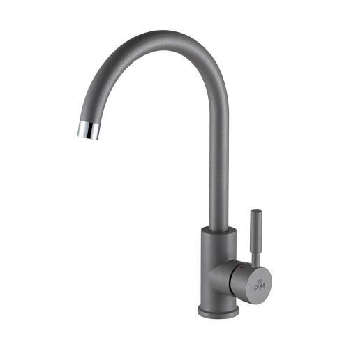 Смеситель для кухонной мойки серый металлик, Paulmark HOLSTEIN, Ho212063-402