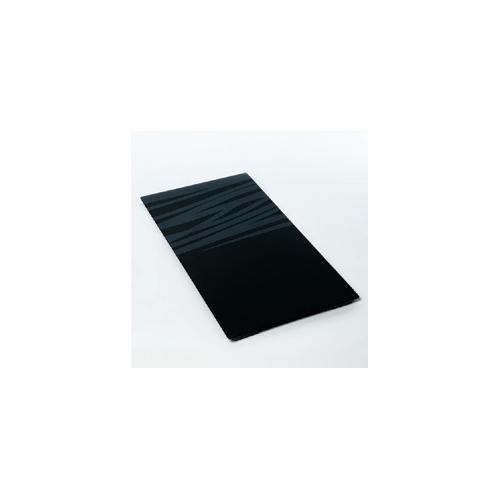Разделочная доска Schock, черное стекло, с серебристым декором, для моек шириной 50см