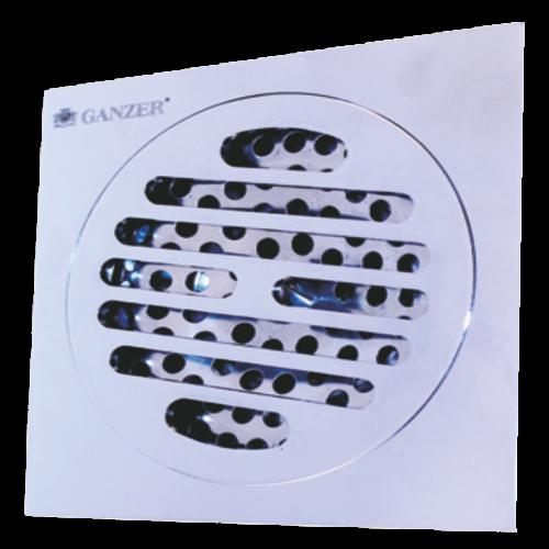 Душевой трап хром 10x10см Ganzer T 001